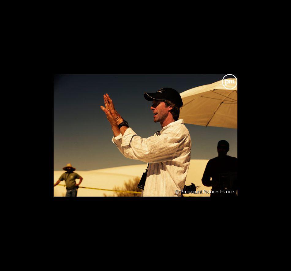 """Le réalisateur Michael Bay sur le tournage de """"Transformers"""""""