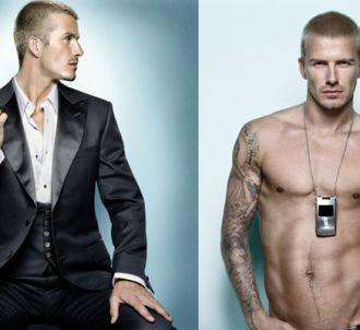 David Beckham, en campagne pour Motorola.