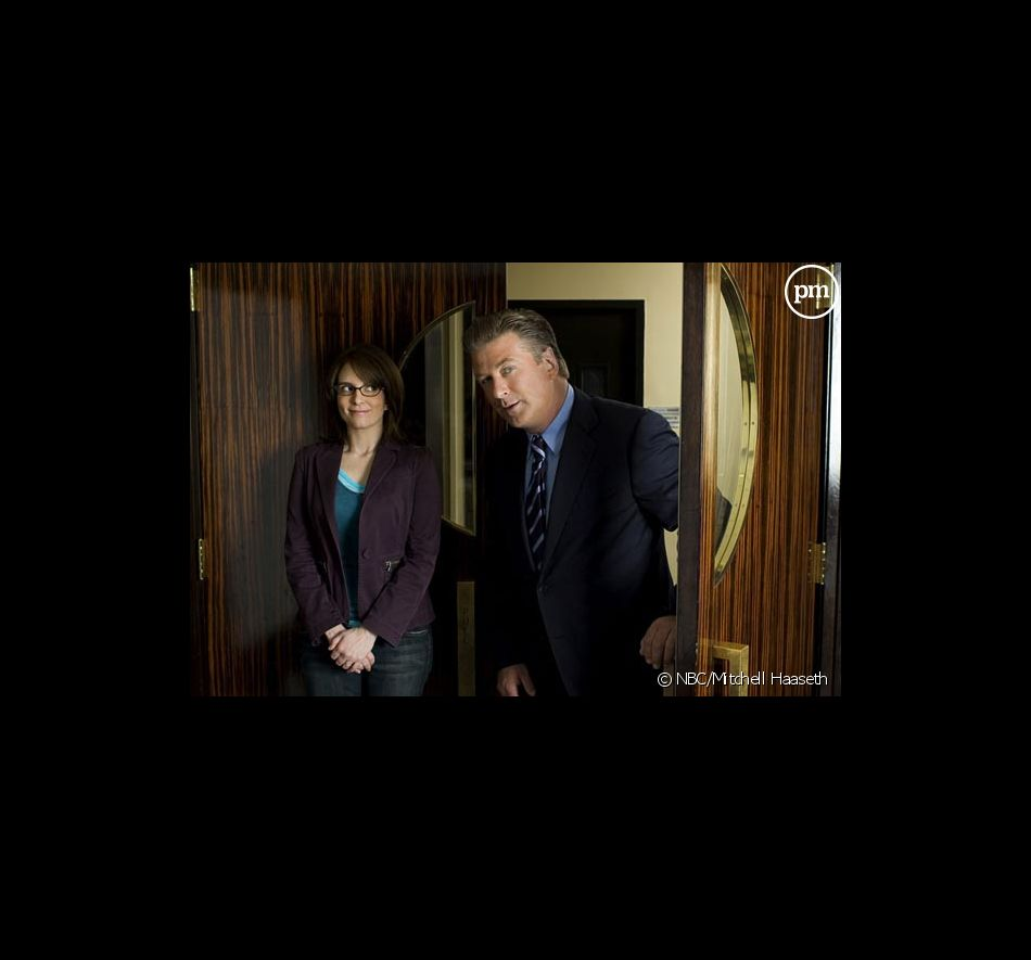 "Tina Fey et Alec Baldwin dans ""30 Rock"""