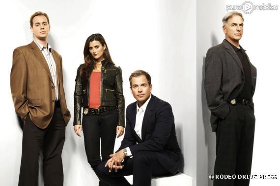"""Murray, Cote De Pablo, Michael Weatherly et Mark Harmon dans """"NCIS"""