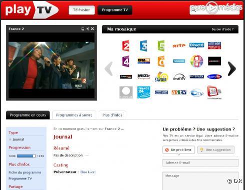 Chaine de télévision en direct sur Play TV