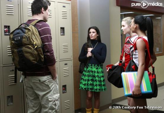 "Cory Monteith, Lea Michele et Dianna Agron dans ""Glee"""