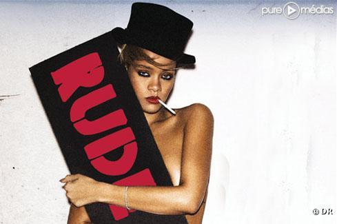 "Rihanna sur la pochette de ""Rude Boy"""