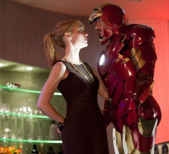 Gwyneth Paltrow et Robert Downey, Jr. dans 'Iron Man 2'