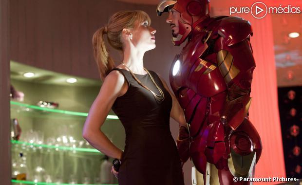 "Gwyneth Paltrow et Robert Downey, Jr. dans ""Iron Man 2"""