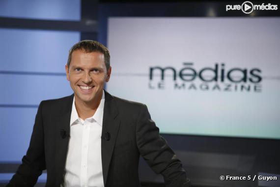 """Thomas Hugues sur le plateau de """"Médias, le magazine"""""""