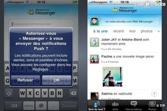 Windows Live Messenger disponible sur iPhone - Puremedias