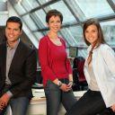 David Jacquot, Nathalie Renoux et Céline Bosquet, présentateurs du JT sur M6