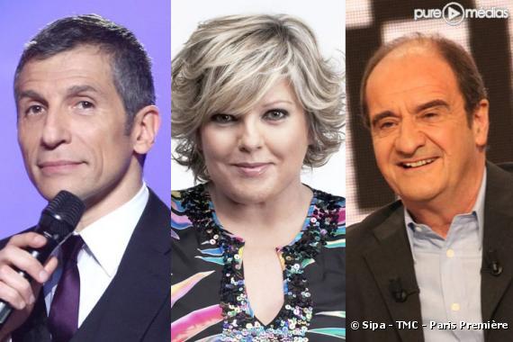 Nagui, Laurence Boccolini et Pierre Lescure