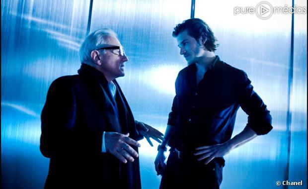 Gaspard Ulliel tourne sous la direction de Martin Scorsese pour la marque Chanel.