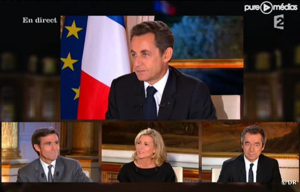 L'interview de Nicolas Sarkozy à la télévision le 16 novembre 2010.
