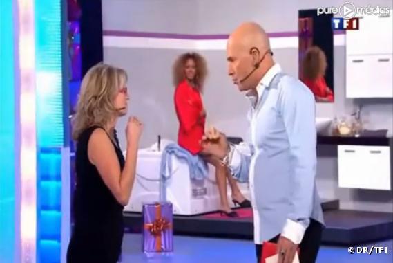 """Marie-Thérèse face à Vincent Lagaf dans """"Le Juste Prix"""""""