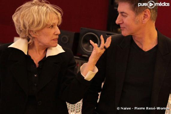 Jeanne Moreau et Etienne Daho