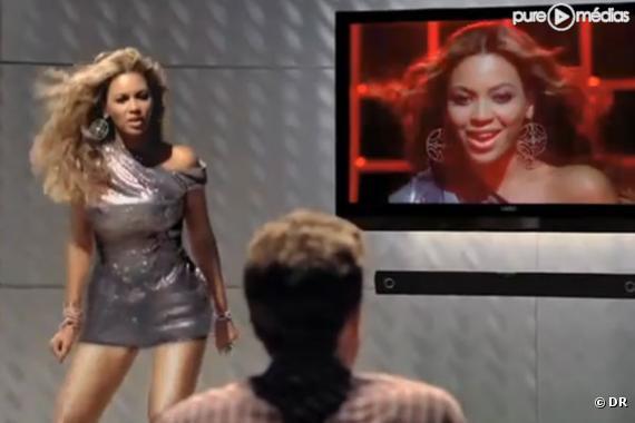 Beyoncé dans une publicité pour la marque VIZIO