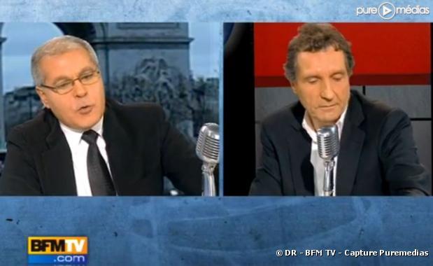 Mezri Haddad et Jean-Jacques Bourdin, le 12 janvier 2010 sur BFM TV