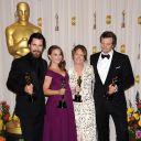 Christian Bale, Natalie Portman, Melissa Leo et Colin Firth
