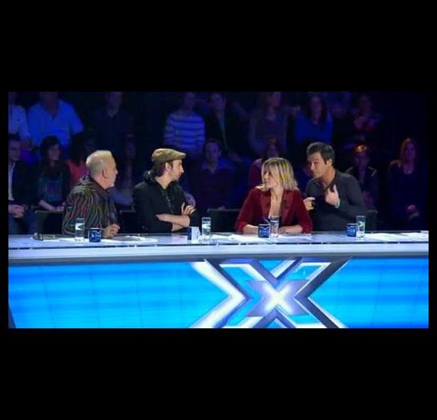 Le jury de X-Factor dans l'émission du 15 mars 2011