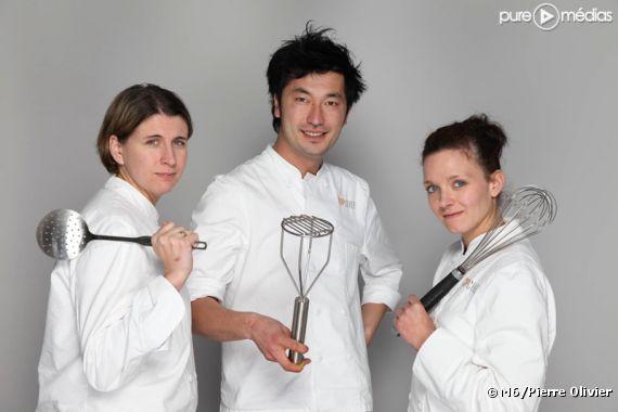"""Stéphanie, Pierre-Sang et Fanny dans """"Top Chef"""" 2011"""