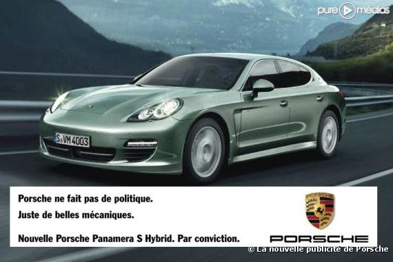 porsche fait sa pub avec la pol mique dsk puremedias. Black Bedroom Furniture Sets. Home Design Ideas
