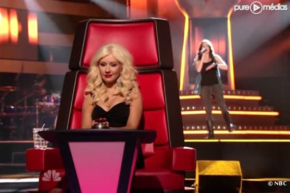 "Christina Aguilera dans ""The Voice"""