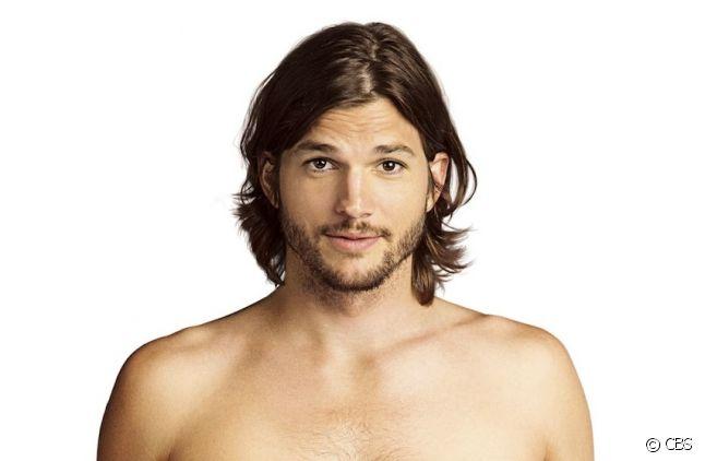 """Ashton Kutcher sur l'affiche promotionnelle de """"Mon Oncle Charlie"""" saison 9"""