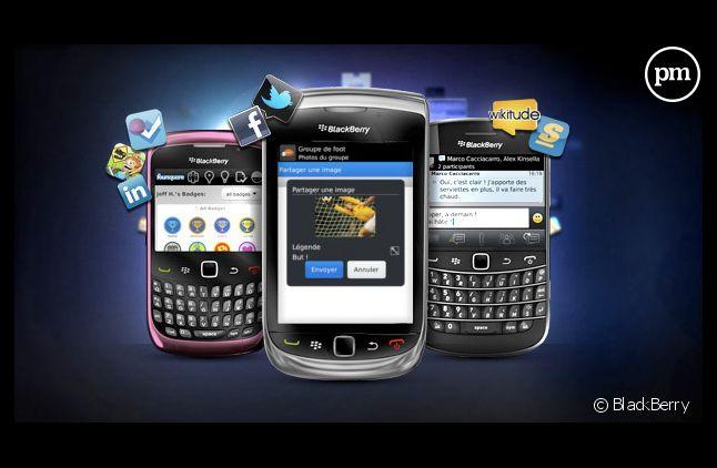 Des téléphones BlackBerry