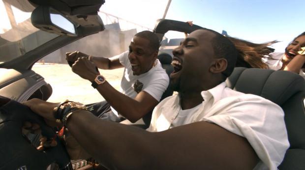Jay-Z et Kanye West dans le clip de