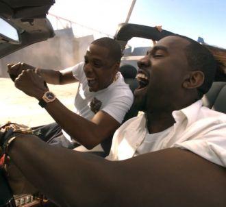 Jay-Z et Kanye West dans le clip de 'Otis'