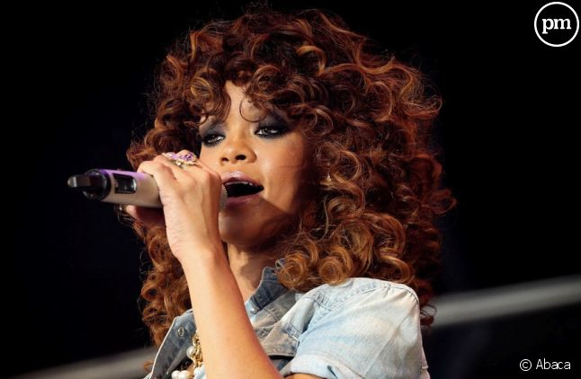 Rihanna lors du V Festival au Royaume-Uni le 21 août 2011.