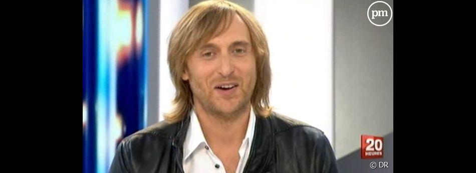 """David Guetta invité du """"20 Heures"""" de France 2, le 29 août 2011"""
