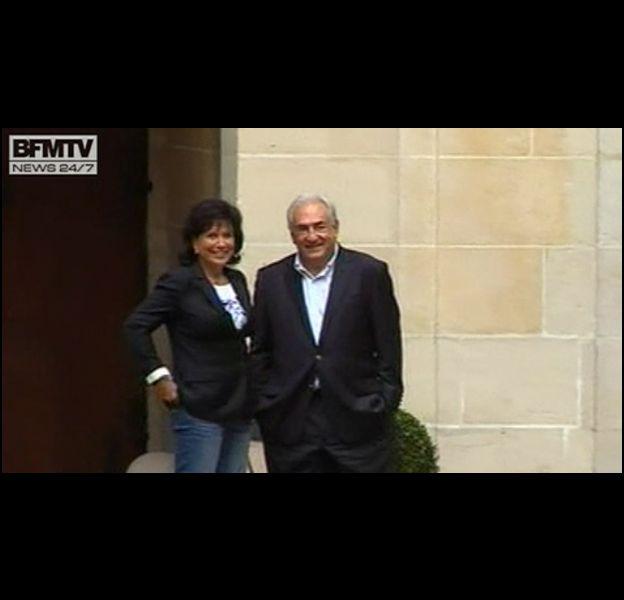 DSK et Anne Sinclair, le 4 septembre 2011 à Paris.