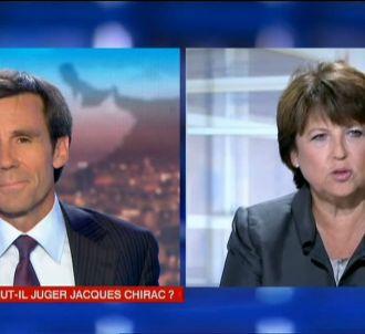 Martine Aubry, invitée du 20 heures de France 2 le 5...