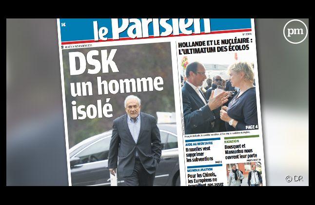La Une du Parisien/Aujourd'hui en France daté du 14 novembre 2011.