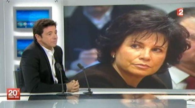 Patrick Bruel, invité du 20 heures de France 2 le 20 novembre 2011.