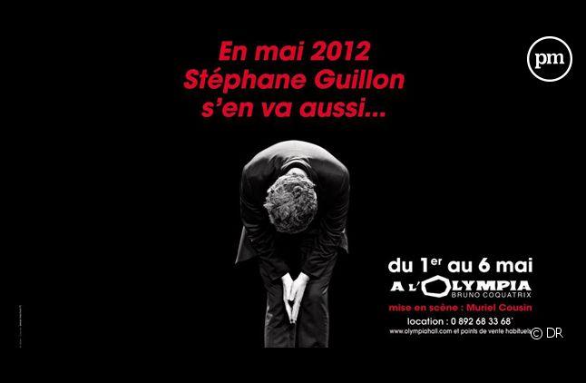 L'affiche pour le spectacle de Stéphane Guillon.