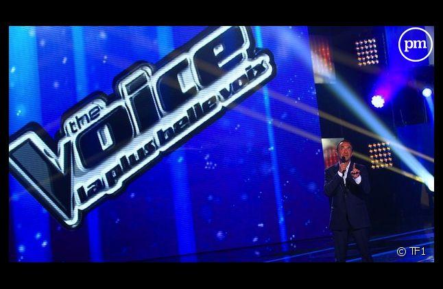 """Nikos Aliagas sur le plateau de """"The Voice, la plus belle voix"""" sur TF1"""