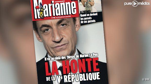 La Une de l'hebdomadaire Marianne.