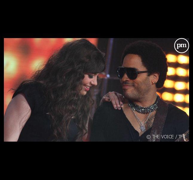"""Al. Hy et Lenny Kravitz lors de la finale de """"The Voice"""""""