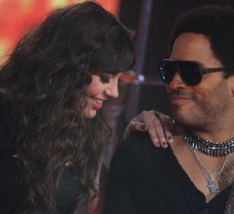 Al. Hy et Lenny Kravitz lors de la finale de 'The Voice'