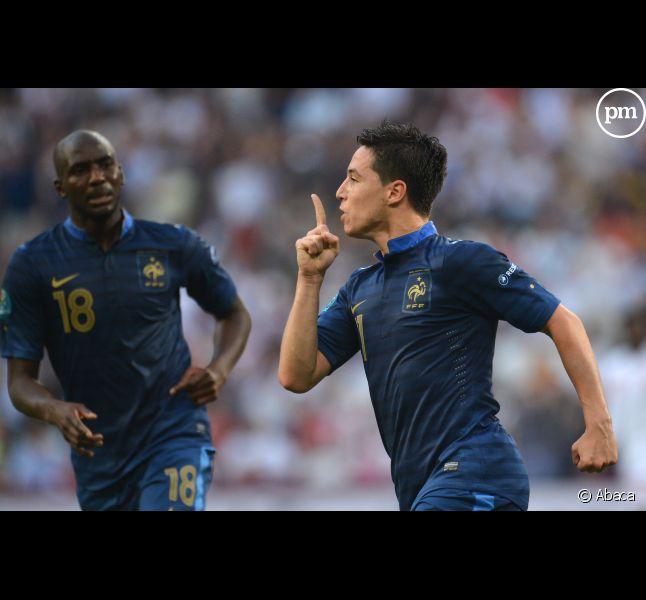 """Samir Nasri a adressé un message aux journalistes de """"L'Equipe"""" après son but contre l'Angleterre."""