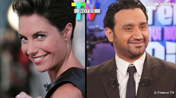 """Alessandra Sublet et Cyril Hanouna, élus """"Meilleure animatrice et """"Meilleur animateur"""" de la saison des TV Notes 2012."""
