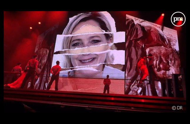 Au Stade de France, Madonna a bien diffusé la vidéo comparant Marine Le Pen à Adolf Hitler