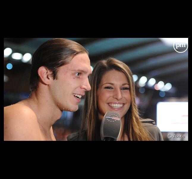Laury Thilleman et le nageur Clément Lefert aux JO de Londres
