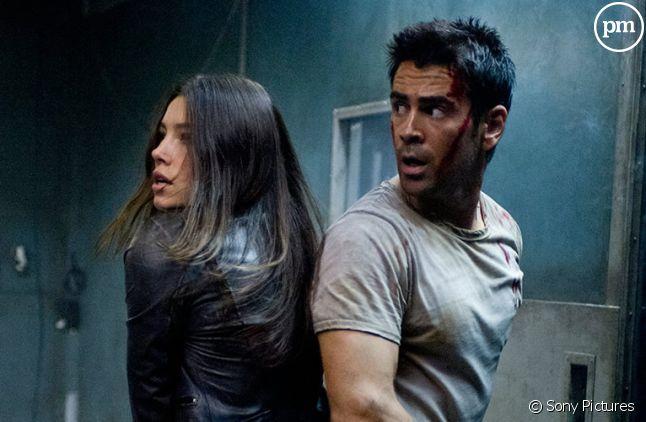 "Colin Farrell et Jessica Biel dans ""Total Recall Mémoires programmées"""