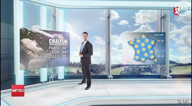 La nouvelle météo de France 2 dans un nouveau décor viruel.
