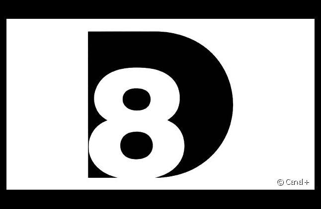 Le logo en deux dimensions de la future chaîne D8.