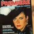 """La Une du numéro 1 du magazine """"Première"""", avec Sylvia Kristel."""
