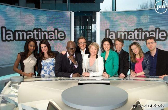 """L'équipe de """"La matinale"""" de Canal+."""