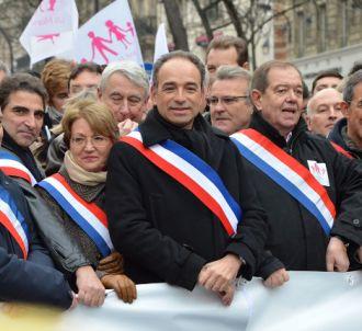 Jean-françois Copé défile contre le mariage gay, en...