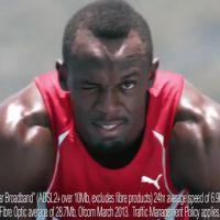 Pub : Usain Bolt met sa vitesse au service d'une campagne